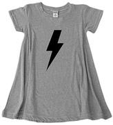 Urban Smalls Heather Gray Lightning Bolt Dress - Toddler & Girls