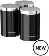 Morphy Richards Accents Set Of 3 Storage Canisters – Black