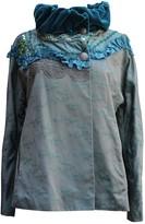 Christian Lacroix Blue Velvet Jacket for Women Vintage