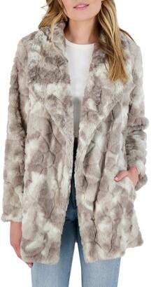 BB Dakota Swirls Gone Wild Faux Fur Coat