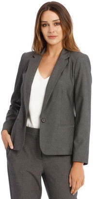 Basque Single Button Two Way Stretch Jacket