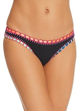Solange Platinum Inspired By Ferrarini Platinum Crochet Trim Bikini Bottom - 100% Exclusive