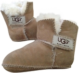 UGG Beige Leather Slippers