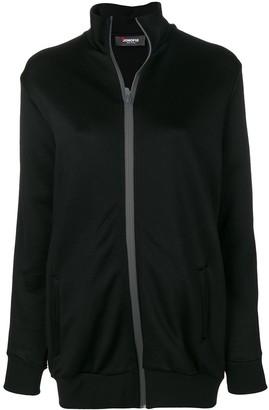 Jo No Fui Oversized Stripe-Detail Track Jacket
