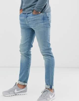 Levi's 510 skinny fit standard rise jeans in jafar advanced light wash-Blue