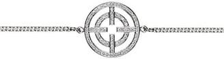 Akillis A License To 18K White Gold Full Diamond Pave Pendant Bracelet