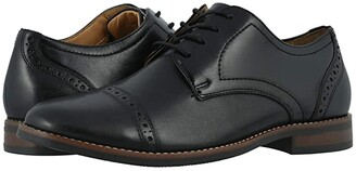 Nunn Bush Fifth Ward Flex Cap Toe Oxford (Black) Men's Shoes