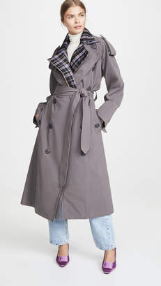 N. DUO Stripe Collar Detail Trench