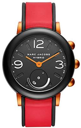 Marc Jacobs Women's Riley Nylon and Silicone Hybrid Smartwatch