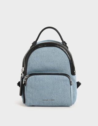 Charles & Keith Textured Top Handle Backpack