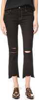 J Brand Mid Rise Straight Crop Jeans