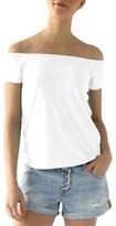 LAmade Women's Imelda Tissue Jersey Off The Shoulder Tee