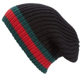 Gucci Men's Stripe Wool Beanie - Black