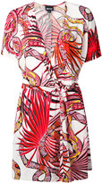 Just Cavalli snake print wrap dress - women - Viscose - 40