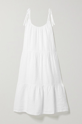 HONORINE Lucy Tiered Linen Dress - White