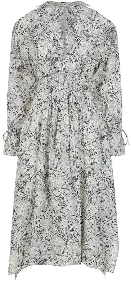 AllSaints Lavete Paisley Midi Dress