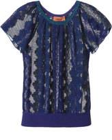 Missoni Blue Lurex Lace Top