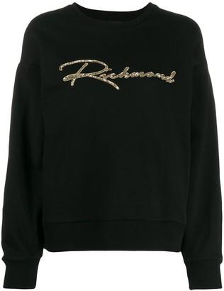 John Richmond Sequinned Logo Sweatshirt
