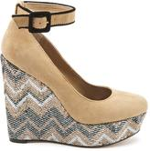 Jessica Simpson Carly Nude Kidsuede Wedges