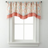 Asstd National Brand Sea Scroll Double Layer Rod-Pocket Valance