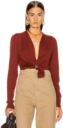 Bottega Veneta Cashmere Twist Sweater in Rust | FWRD