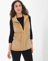 Chico's Sage Perforated Vest