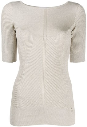 Patrizia Pepe Knitted Crew Neck Top