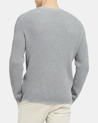 Theory Crewneck Sweater in Textured Cotton