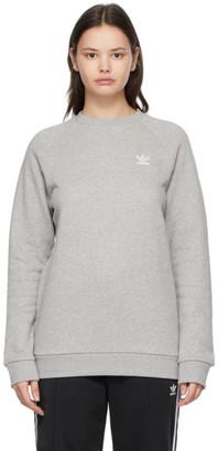adidas Grey Trefoil Essentials Crewneck Sweatshirt