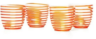 Yali Glass - Set Of Four A Filo Goto Tumblers - Orange