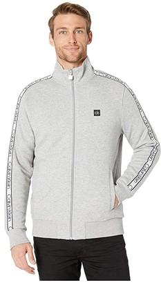 Calvin Klein Athletic Knit Sweatshirt (Heroic Grey Heather) Men's Clothing