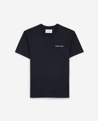 The Kooples Blue cotton T-shirt with print