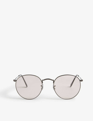 Ray-Ban RB3447 50 round-framed metal sunglasses