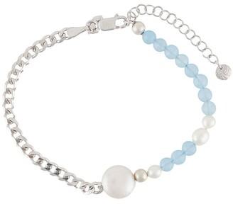 Maria Black Beaded Chain Bracelet