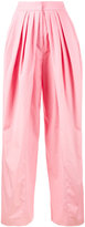 Vika Gazinskaya pleated wide-leg trousers - women - Cotton - 38