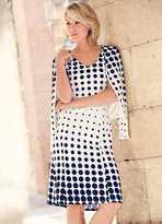 Kaleidoscope Spot Print Dress & Jacket