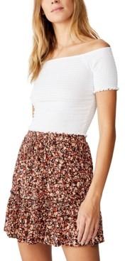 Cotton On Penny Tiered Mini Skirt