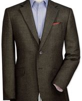 Charles Tyrwhitt Slim fit olive birdseye lambswool jacket
