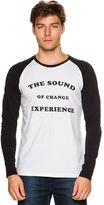 rhythm Text Raglan Ls Tee