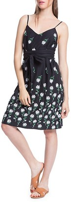 Plenty by Tracy Reese Tie-Waist Floral Flare Dress
