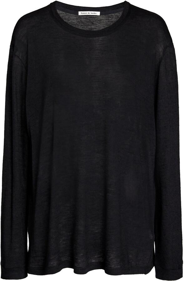 Thumbnail for your product : FRANCES DE LOURDES Women's Marlon Oversized Cashmere-Silk T-Shirt - Black - Moda Operandi