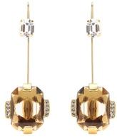 Marni Crystal Embellished Brass Earrings