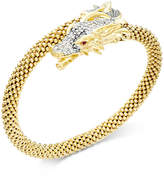 Macy's Diamond Dragon Bypass Bracelet (1 ct. t.w.) in 14k Gold over Sterling Silver