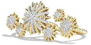 David Yurman Starburst Double Ring With Diamonds In 18K Gold