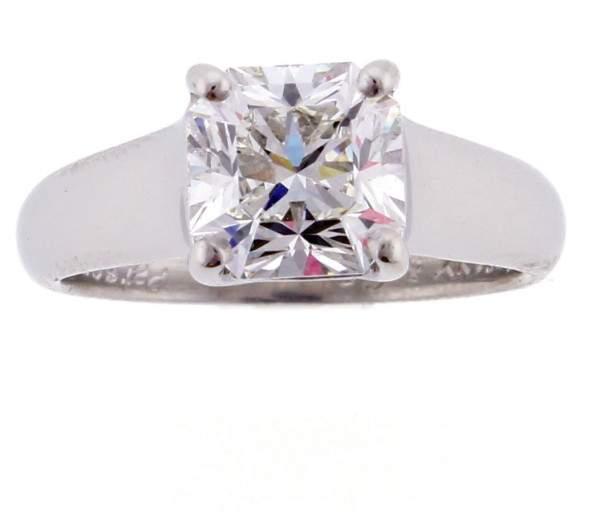 Tiffany & Co. Platinum Lucida 1.90ct. Diamond Ring Size 5.75
