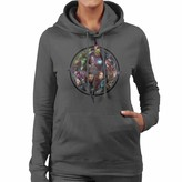 Thumbnail for your product : Marvel Avengers Infinity War Character Montage Women's Hooded Sweatshirt Charcoal