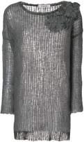 Valentino floral appliqué knit jumper