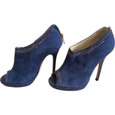 Jimmy Choo Blue Suede Boots
