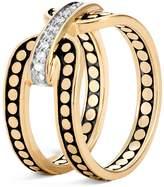 John Hardy 18K Yellow Gold Dot Diamond Ring