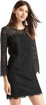 Gap Crochet lace shift dress